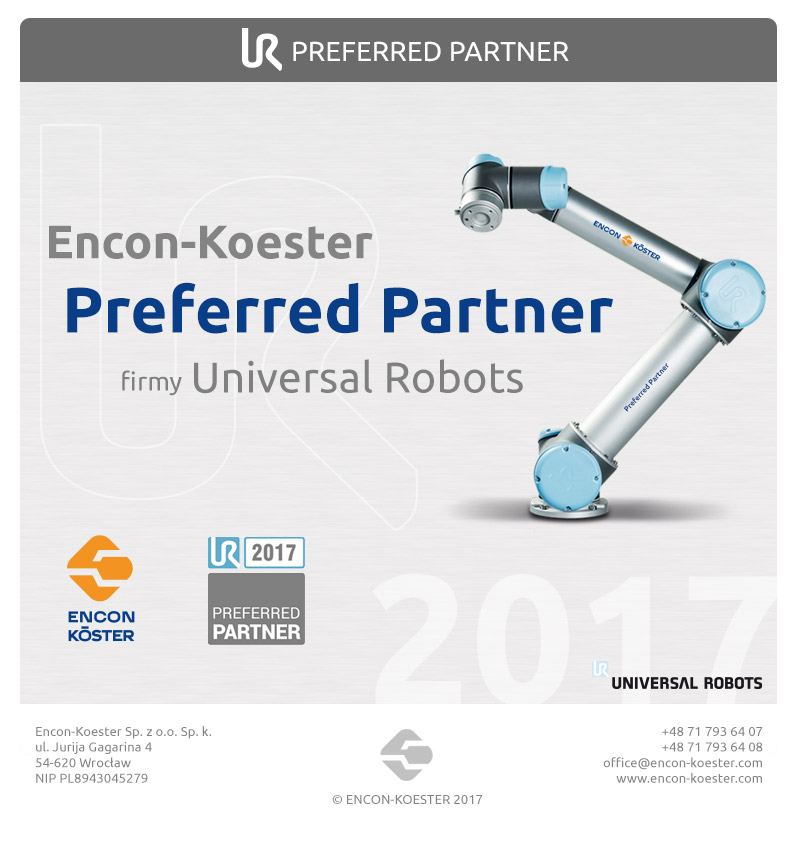Encon-Koester Prefered  Partner Universal robots